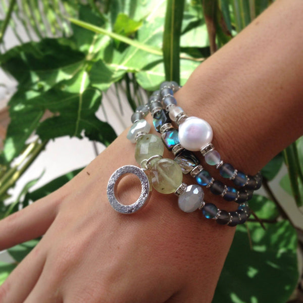 cream stacking bracelet