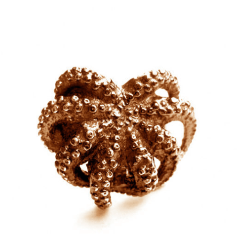Octopus Ring Bronze