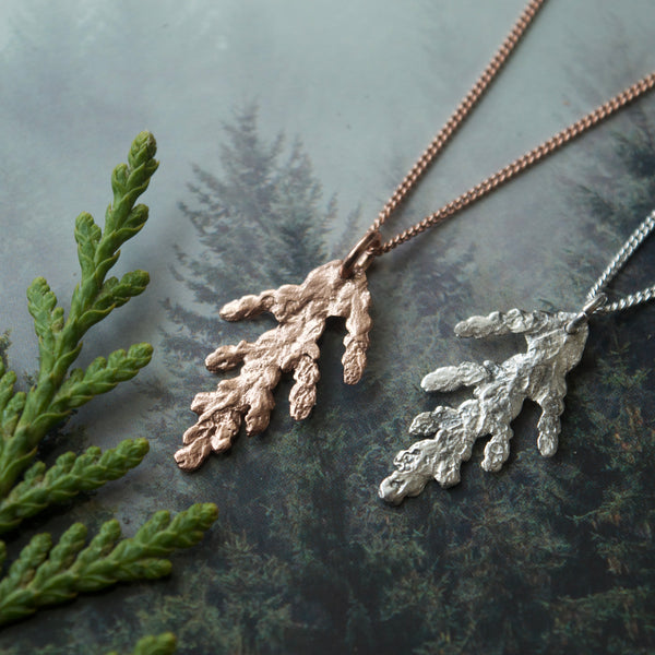 Tiny Cedar Charm Necklace