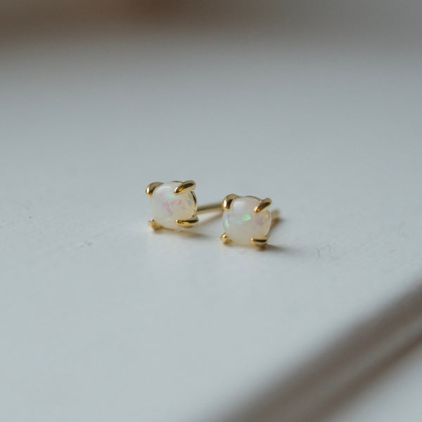 Miniature Gold Stud Earrings
