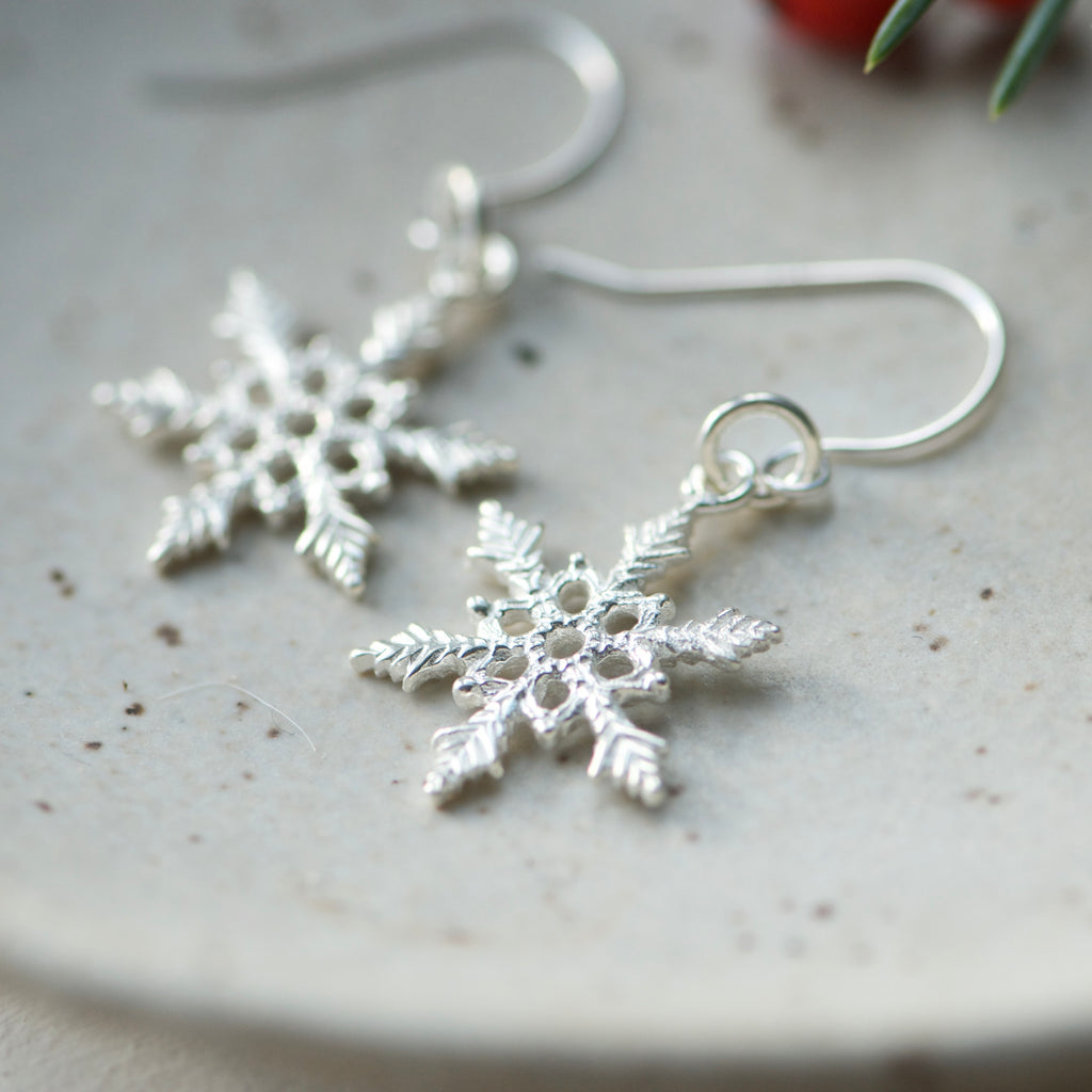 Tiny Snowflake Earrings