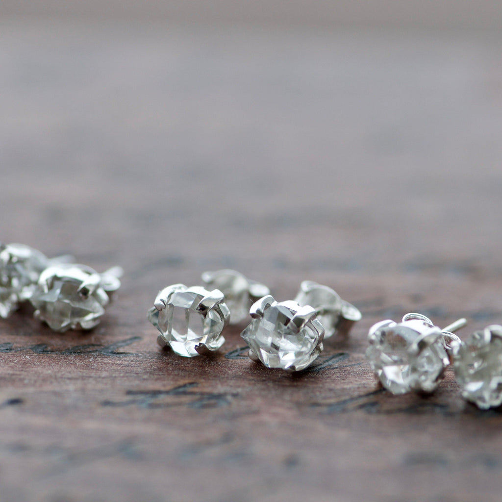 Herkimer Silver Stud Earrings