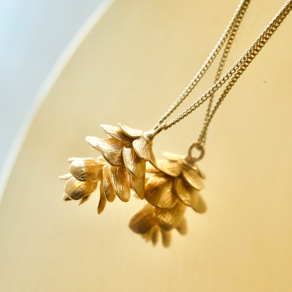 Pinecone Pendant Yellow Gold