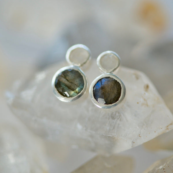 Circle Climber Stud Earrings