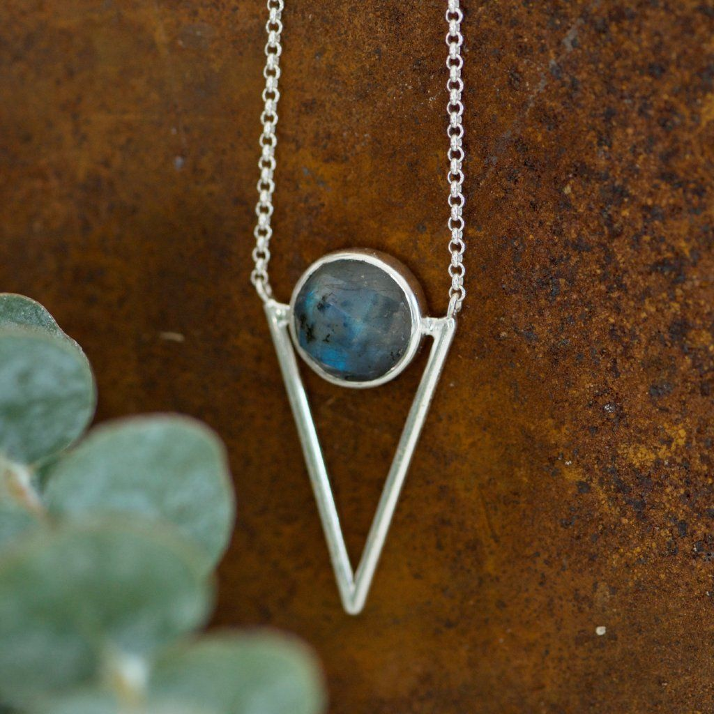Labradorite Arrow Necklace