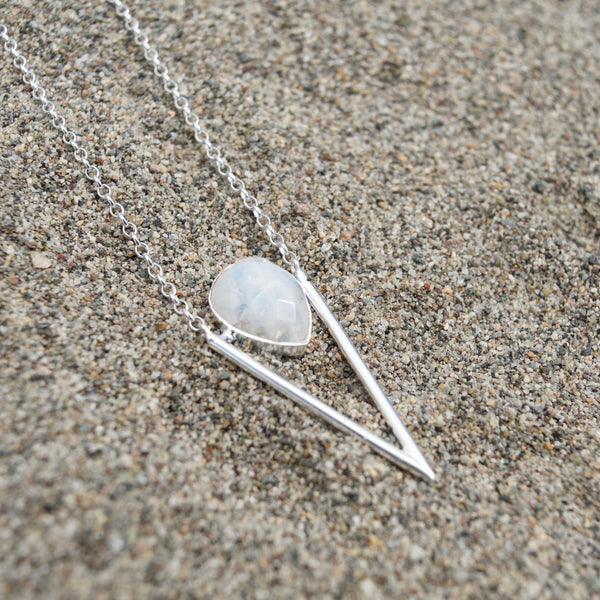Moonstone Arrow Necklace