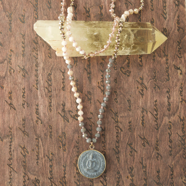 Single Sprakle Buddha Mala Necklace
