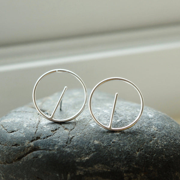geometric circle earrings