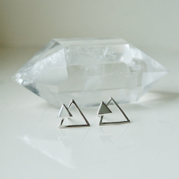 Mountain Climb Stud Earrings