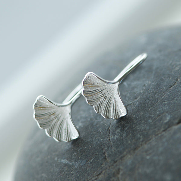 Gingko Hoop Earrings