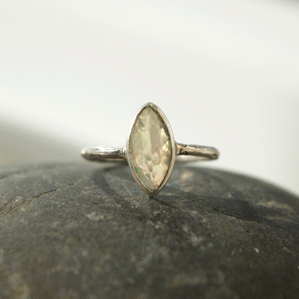 One of Kind Oval Opal Ring