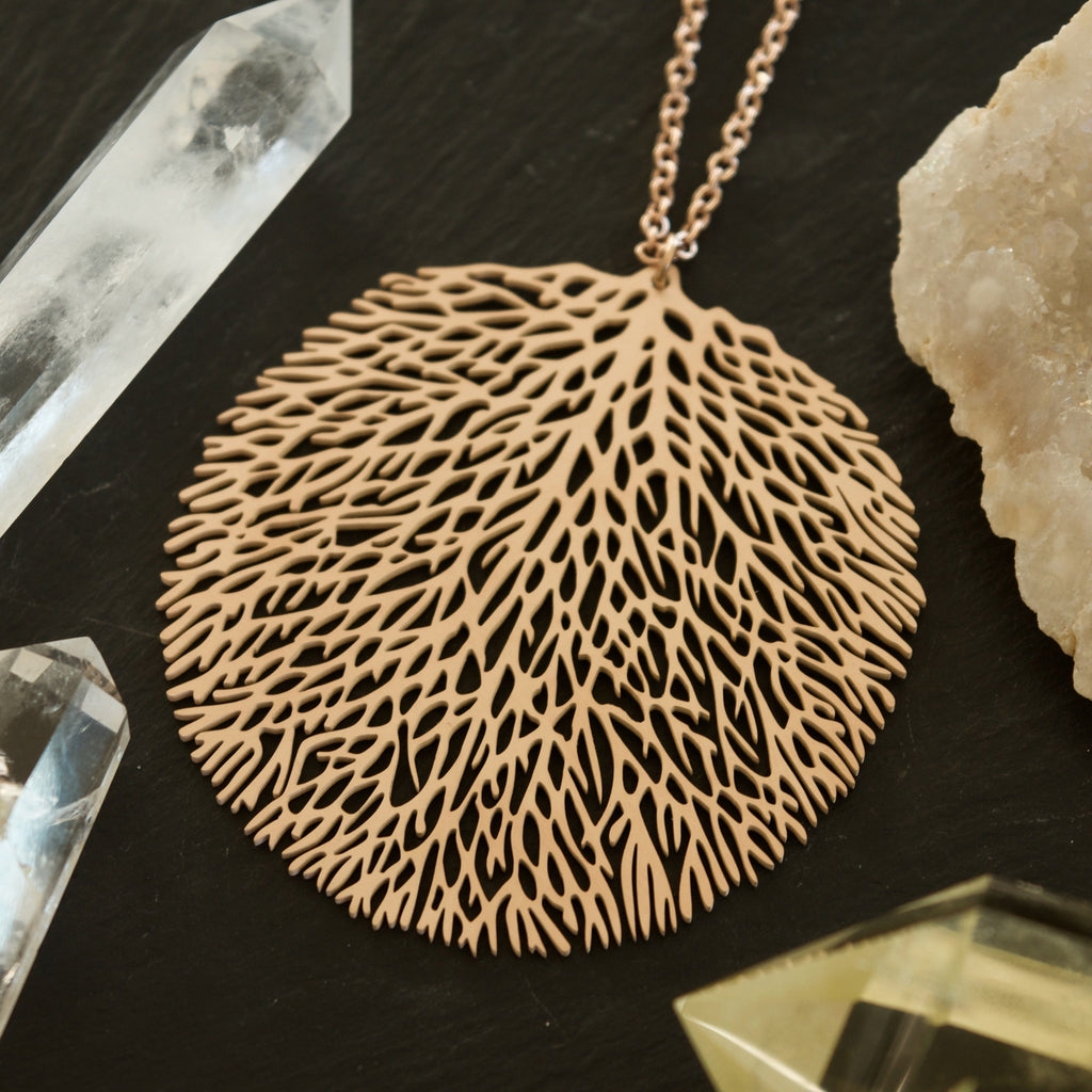 Coral Fan Necklace