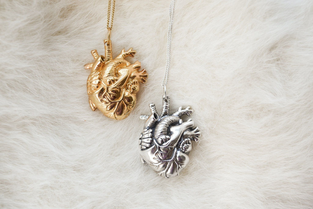 Handmade Nature Inspired Silver Jewelry - Human Heart Jewelry