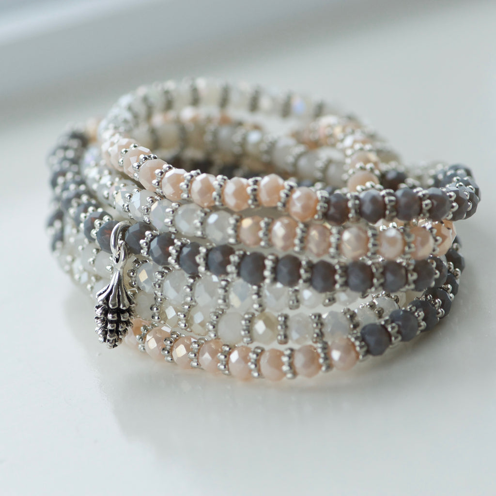 Warm Beaded Wrap Bracelet