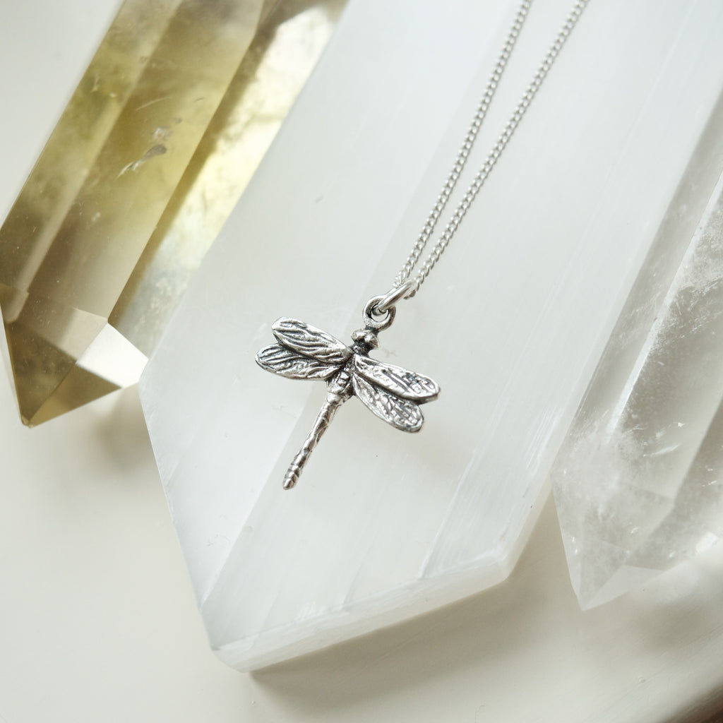 Tiny Dragonfly Pendant