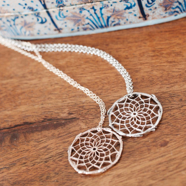 Mandala Bronze Necklace
