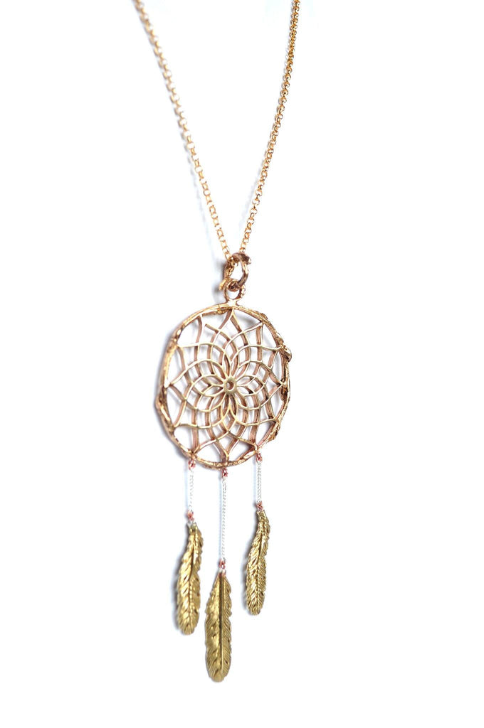 metal dreamcatcher necklacer