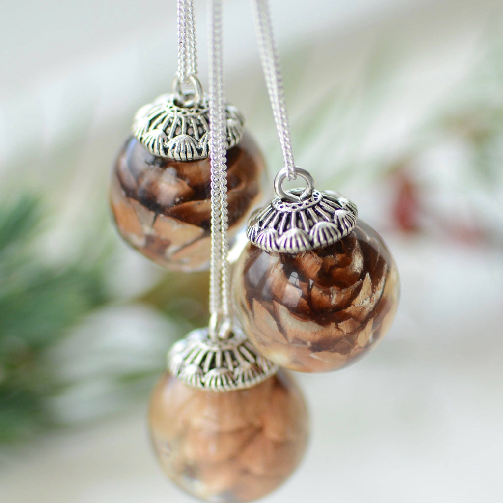 Pinecone Globe Necklace