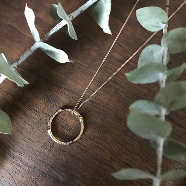Twig Infinity Necklace Rose Gold