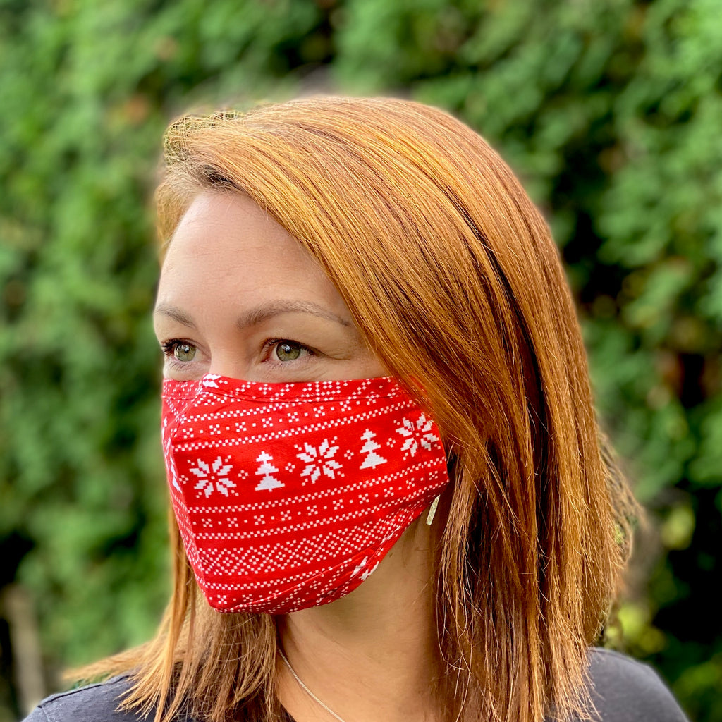 Retro Christmas Breathable Mask - 2 pack