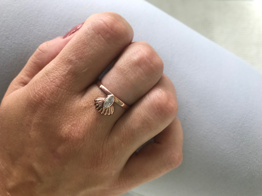 Seashell Ring Rose Gold