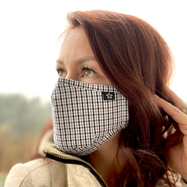 Gingham Face Masks - 2 pack