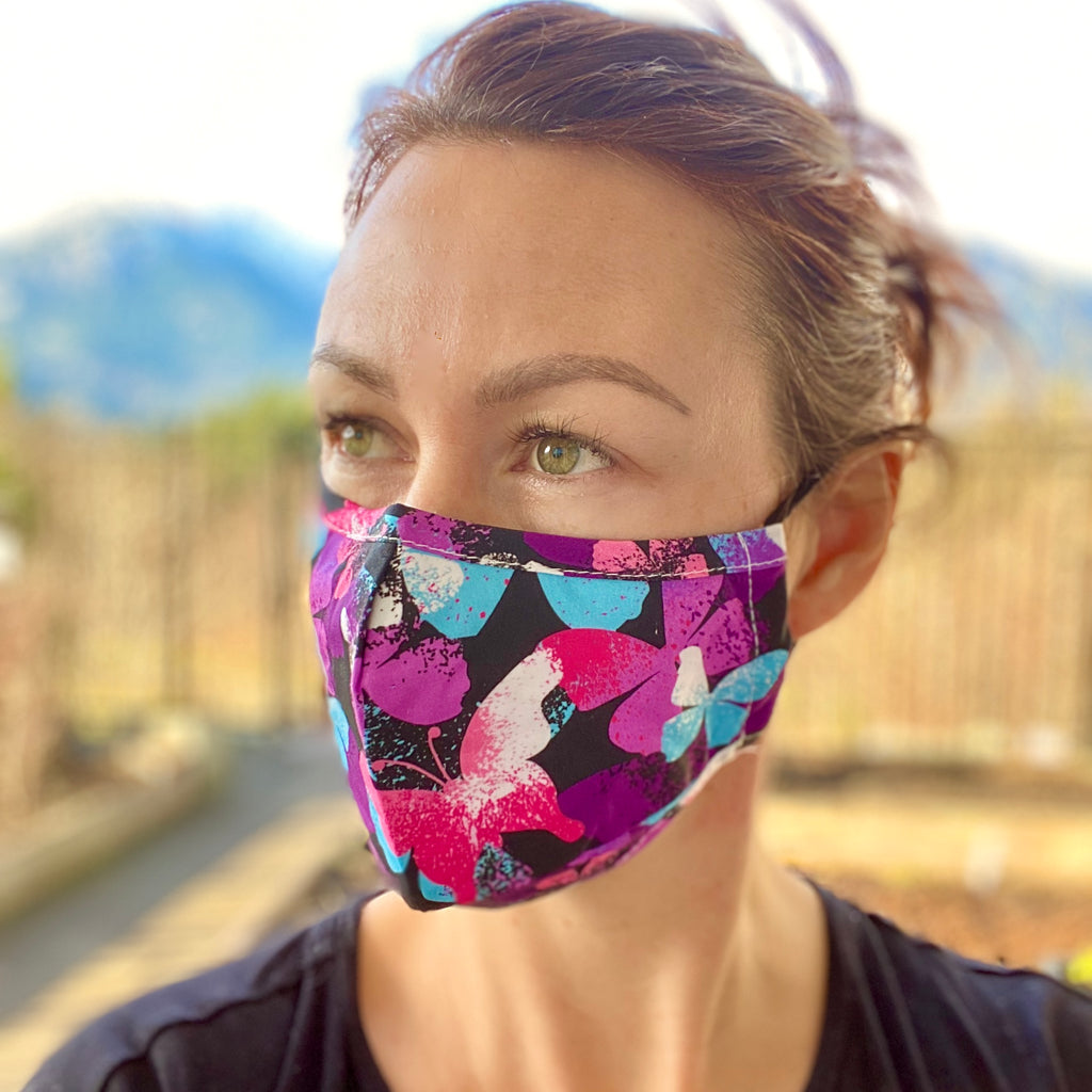 Vibrant Butterfly Breathable Mask - 2 pack