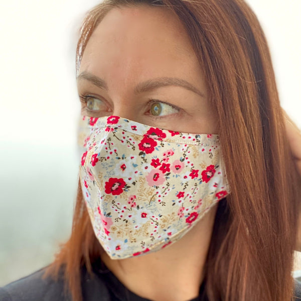 Pretty little flower Breathable Mask - 2 pack