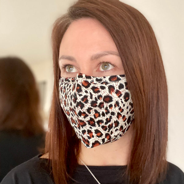 Leopard Breathable Mask - 2 pack
