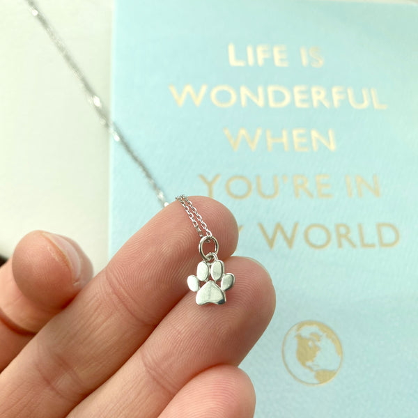 Tiny Dog Paw Charm