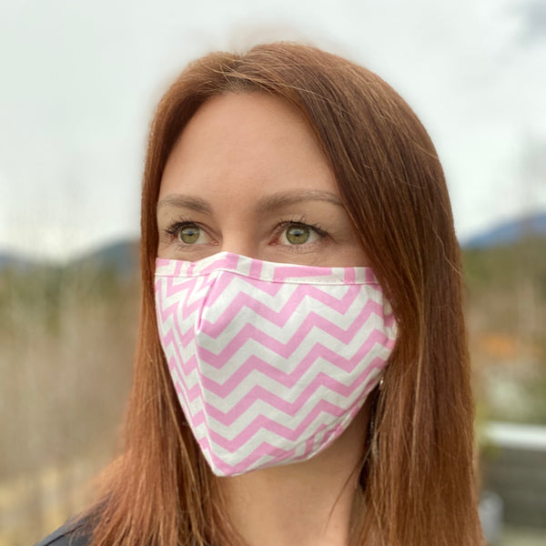 Pink Chevron Breathable Mask - 2 pack