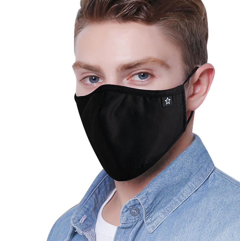 Black Face Masks - 2 pack