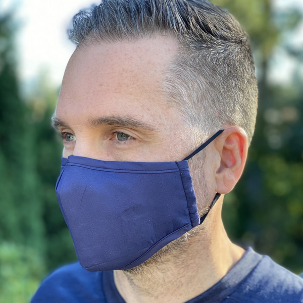 Navy Breathable Mask - 2 pack