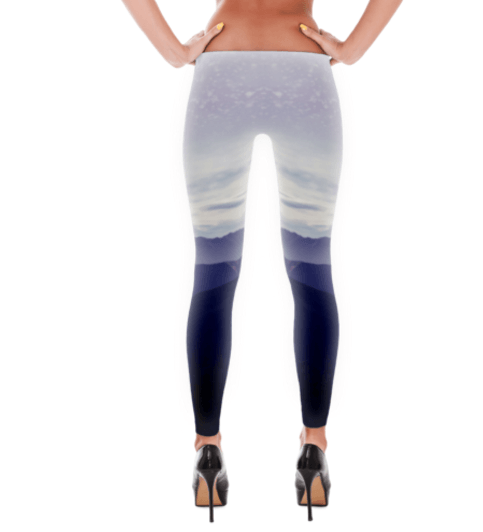 Purple Snow Mountain Leggings