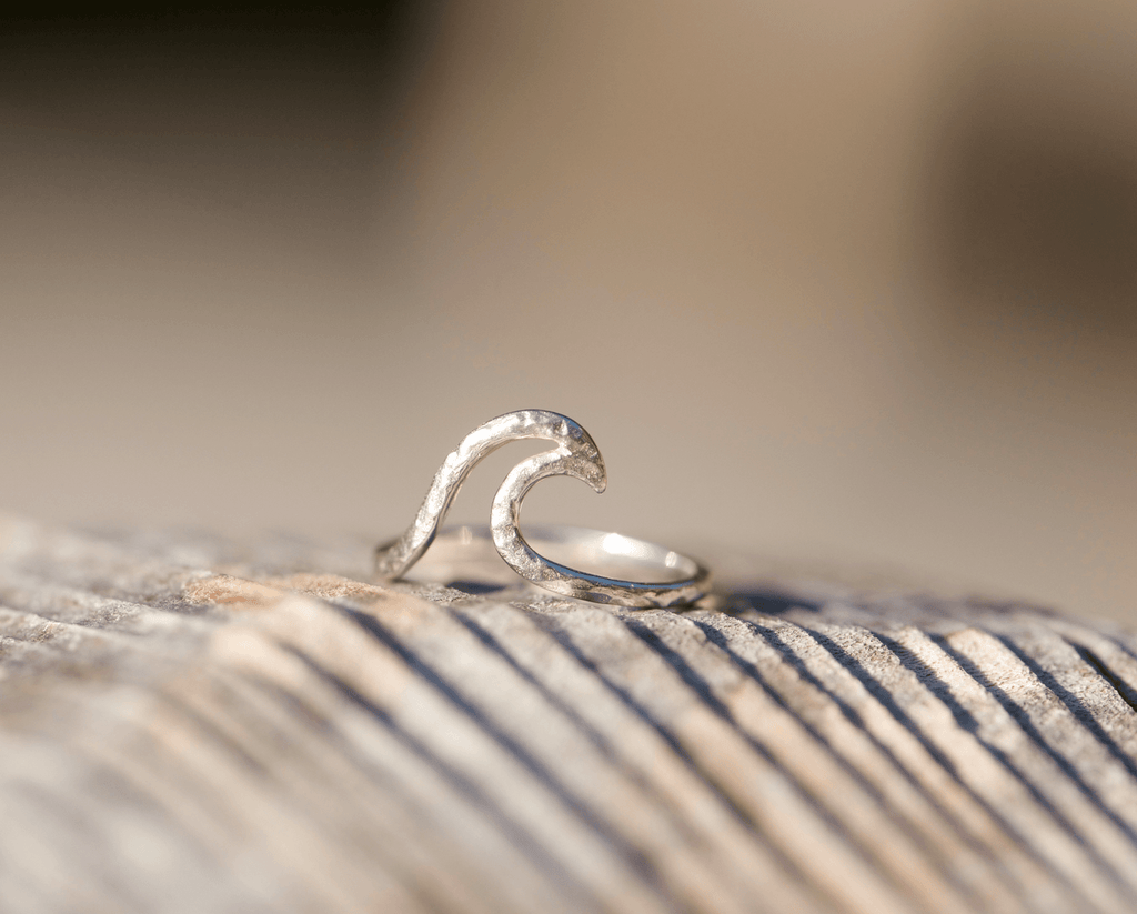 Surfer Ring - Sea Wave Silver Ring