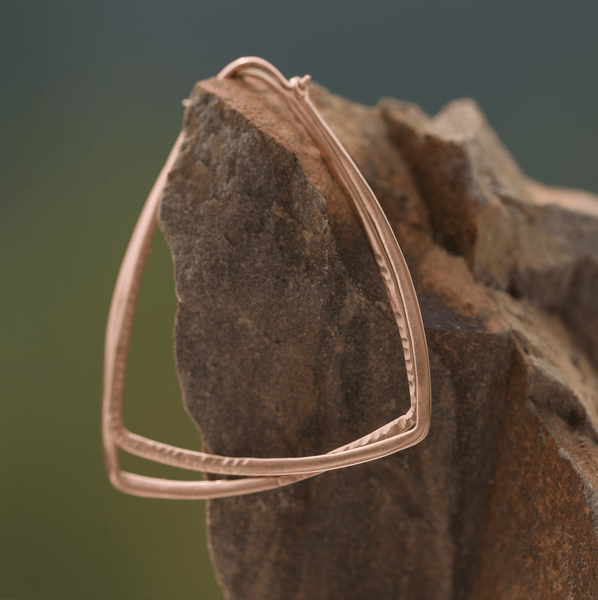 Rose Gold Geometric Hoop Earrings