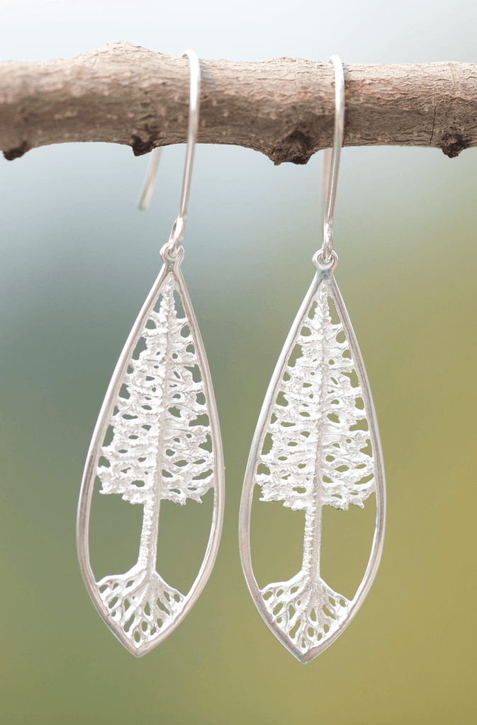 Rooted Tree of Life Earrings Matte