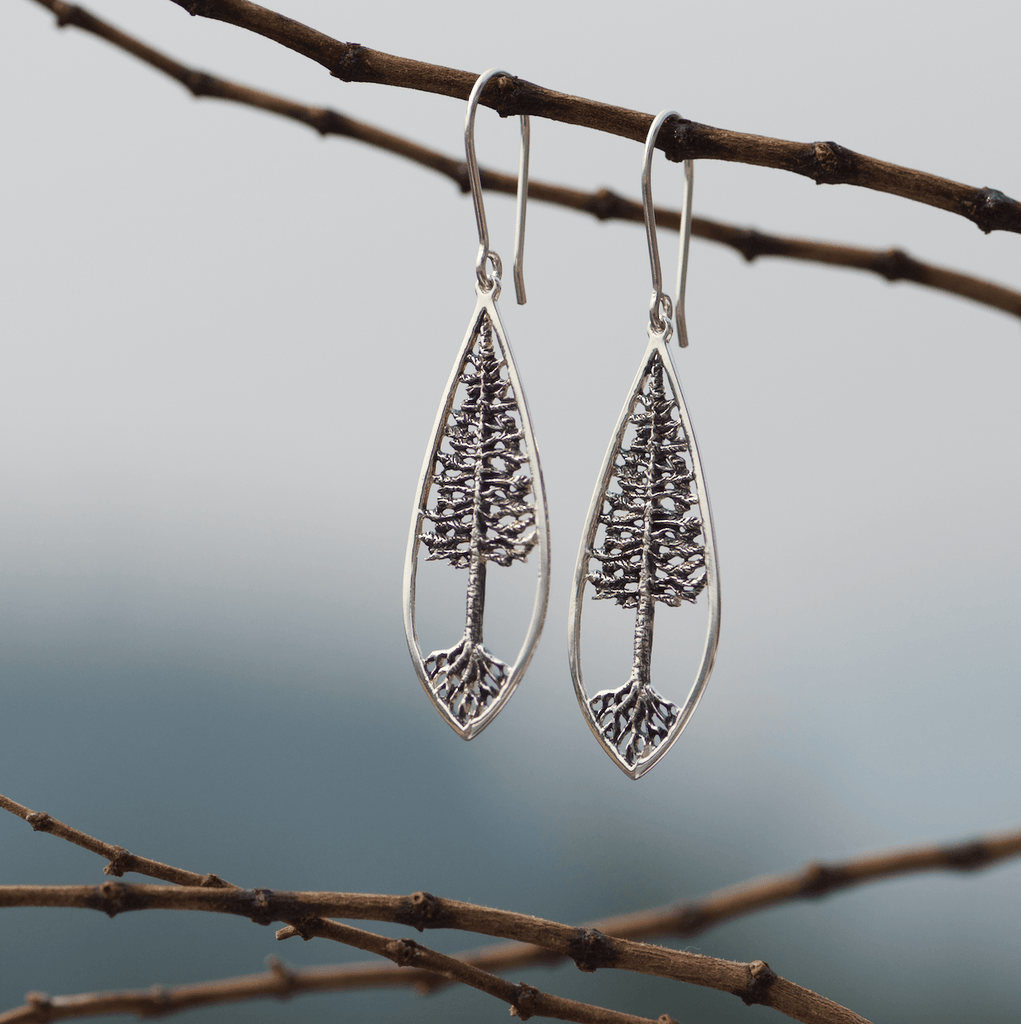 Tree of Life Earrings with roots