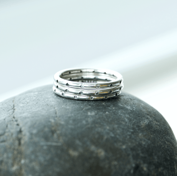 Set of 3 stacking sterling silver rings