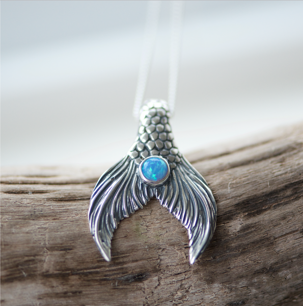 Mermaid Tail Pendant Antique Finish