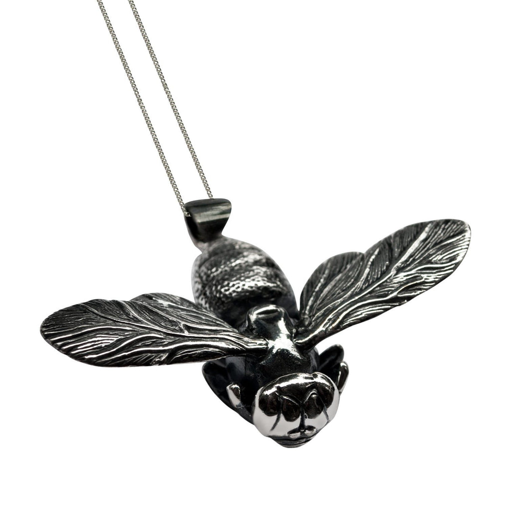 Bee Pendant Silver Front