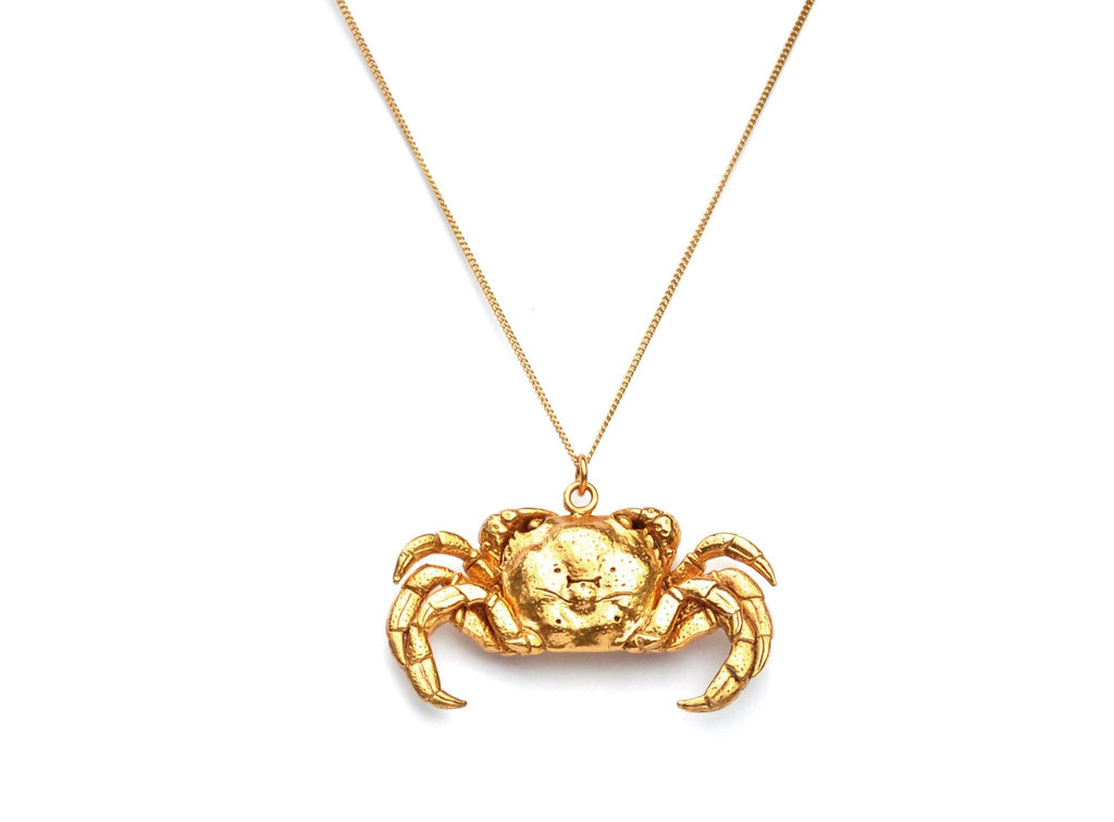 Bronze Crab Necklace