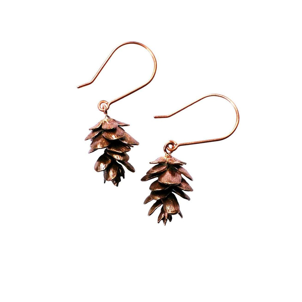 Pinecone Earrings Bronze