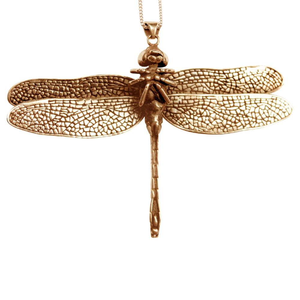 Dragon Fly Pendant Bronze Front