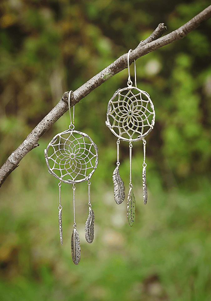 Bronze Dreamcatcher Earrings