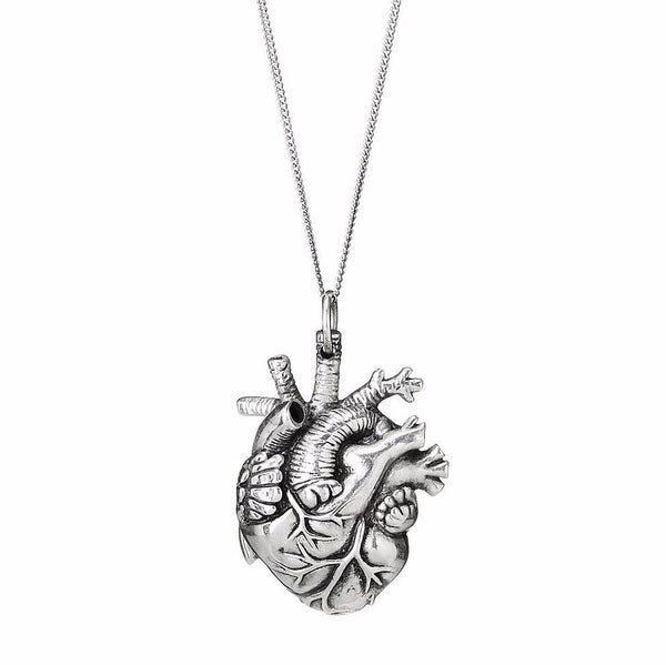 mini anatomical heart pendant