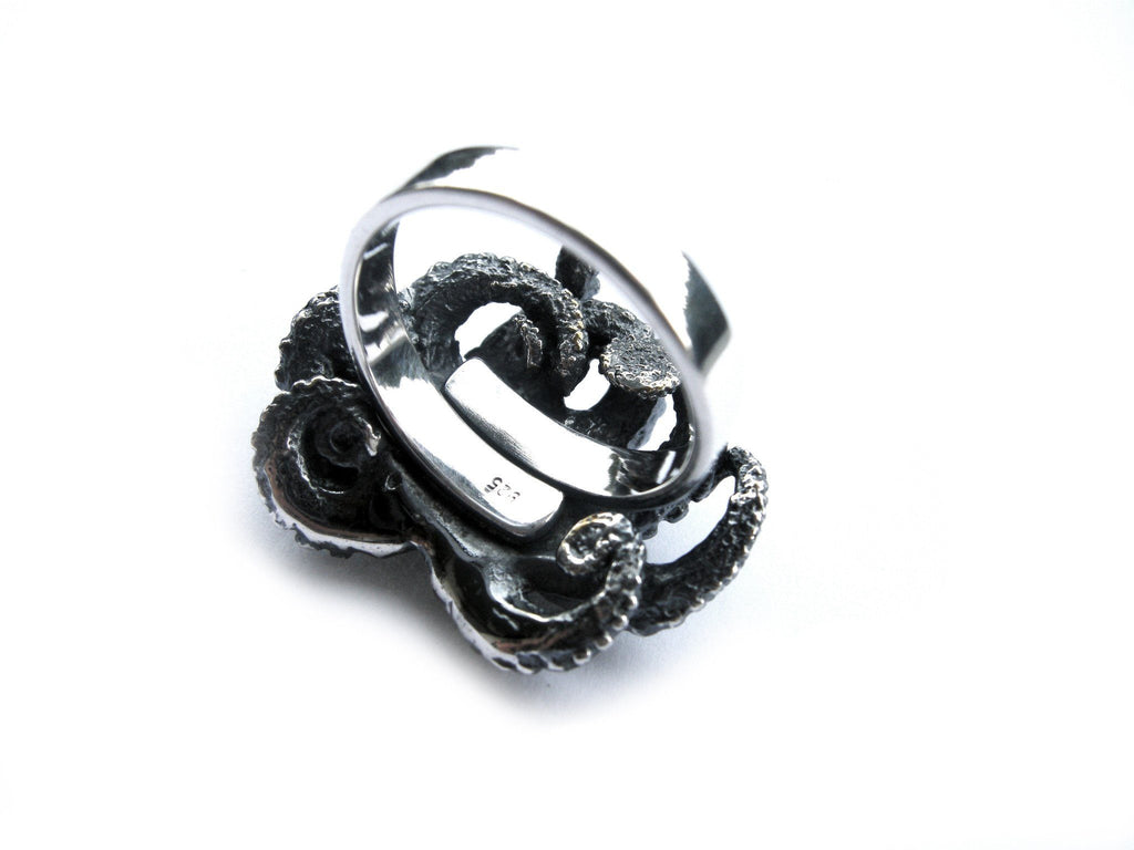 Octopus Ring Silver Back