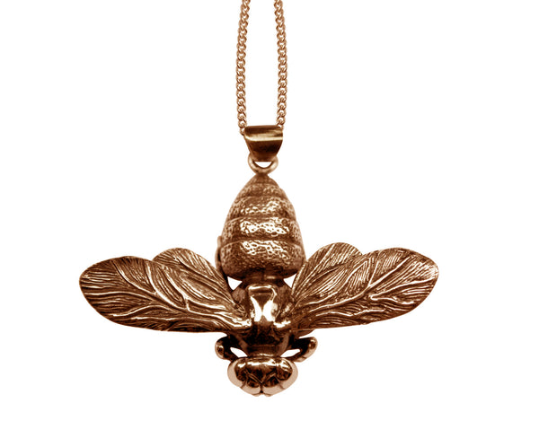 Rose Gold Bee Pendant