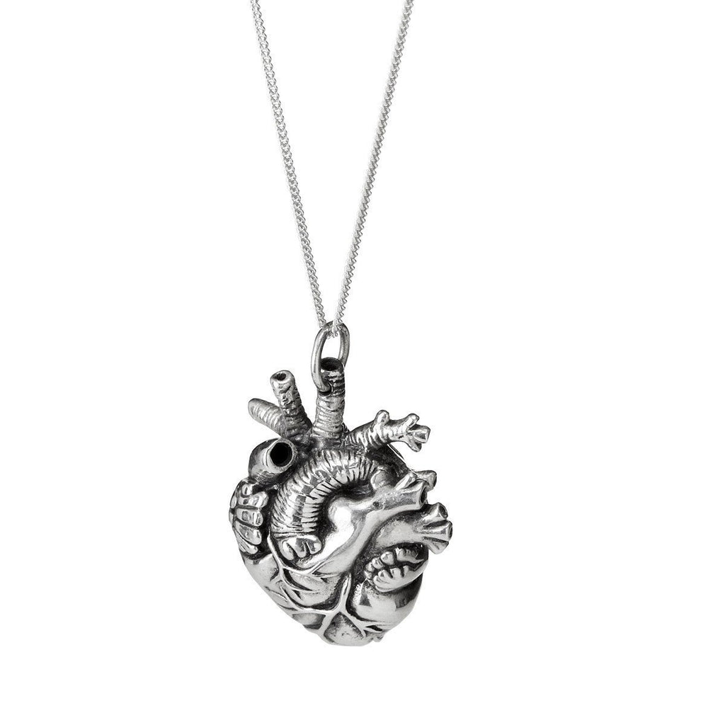 anatomical heart pendant