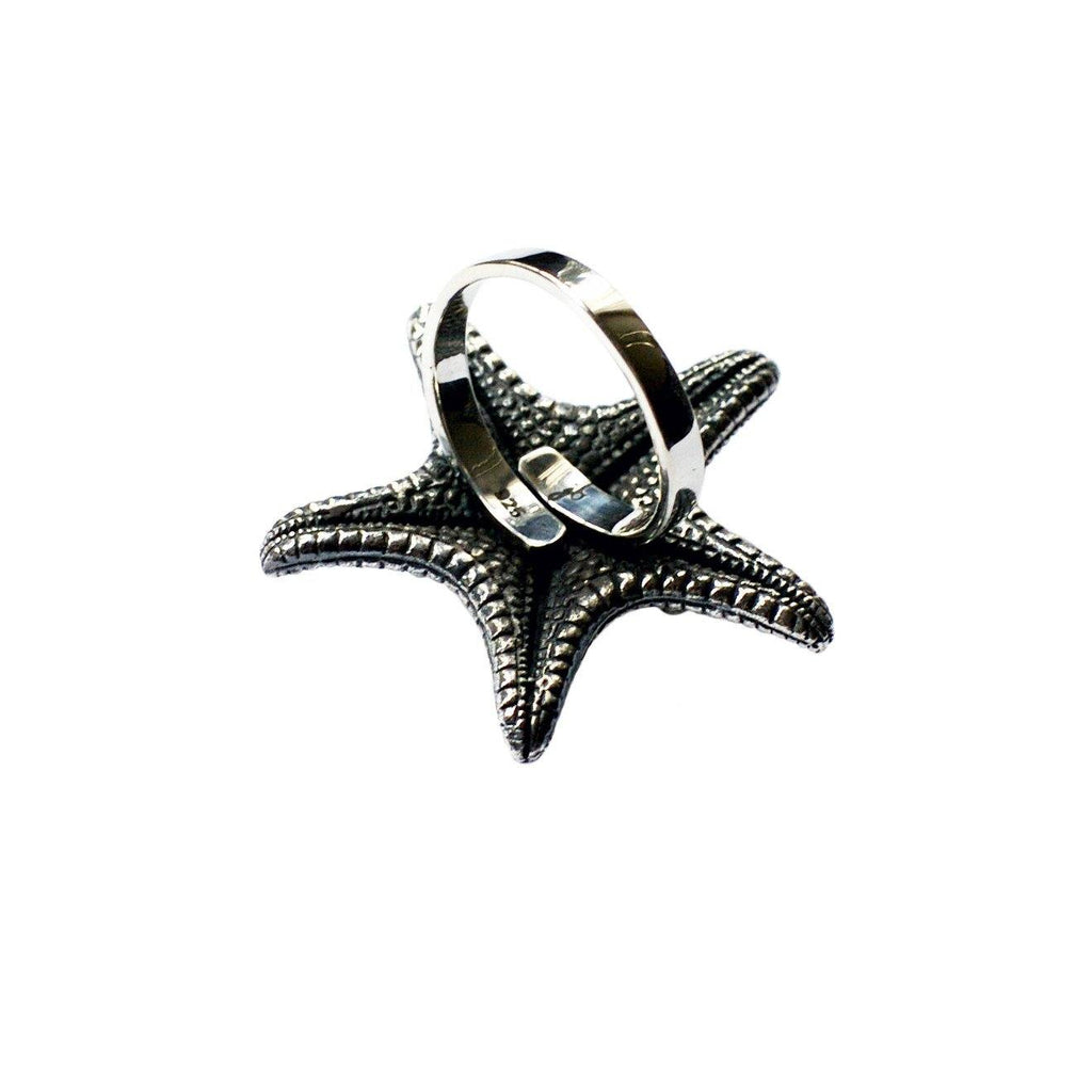 Starfish Ring Silver Back